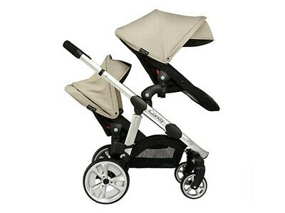 ICandy Apple 2 Pear Black Travel System Double Seat Stroller • 115£