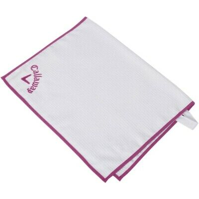 £11.46 • Buy NEW Callaway Golf Players Towel White / Pink 20  X 30
