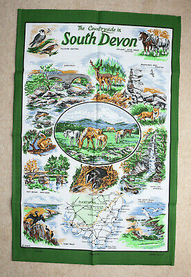 Tea Towel The Countryside In South Devon By Lamont • 3£