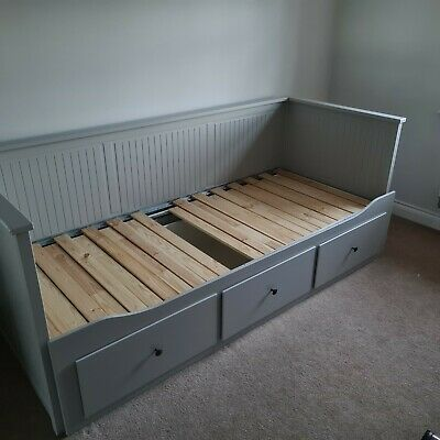 IKEA HEMNES, Day-bed Frame With 3 Drawers, Grey 80x200cm Without Mattresses • 115£