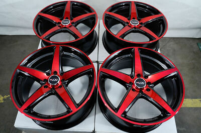 $549 • Buy 17 Wheels Honda Accord Civic Cobalt Miata Cooper Scion IQ XB XA Black Red Rims