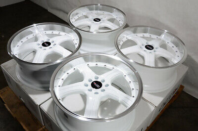 $649 • Buy 18x8 White Wheels Rims Fit Toyota Corolla Nissan Kicks Mini Cooper Accord Civic