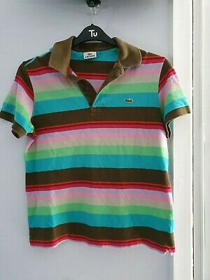Boys Lacoste Striped Polo Shirt - Age 12 Years • 2.50£