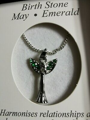 Necklace With Birth Stone May Emerald. Brand New In Box  • 4.50£