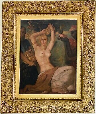 $ CDN980.74 • Buy Esther Nude Antique Oil Painting After Théodore Chassériau (French, 1819-1856)