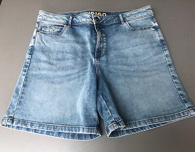 Indigo From Marks & Spencer Blue Ladies Denim Shorts Size 16 • 3£