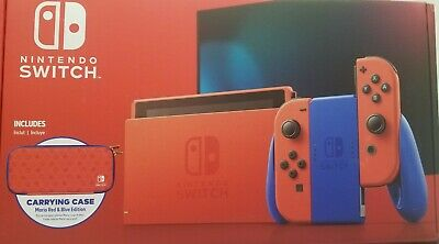 AU370.85 • Buy NEW Nintendo Switch Console 32GB Mario Red & Blue Edition Bundle With Case
