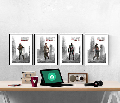 £6 • Buy Call Of Duty Zombies Set Of 4 Prints Xbox PS5 Pictures Wall Art Poster