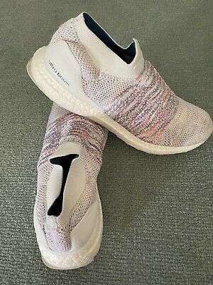 AU30 • Buy Adidas UltraBOOST Laceless White Multi-Color Rainbow Running Shoes