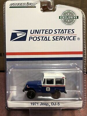 $5.25 • Buy Greenlight Hobby Exclusive  1971 Jeep DJ-5     U.S. Mail USPS   White & Blue