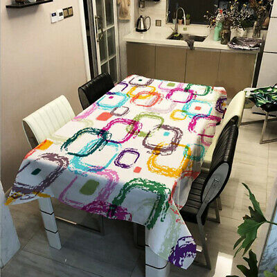 AU6.38 • Buy Tablecloth Rectangle Table Cloth Cover Dining Party Banquet Home Decor P3
