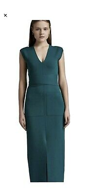 AU300 • Buy Scanlan Theodore Crepe Knit V Dress Emerald Green Small