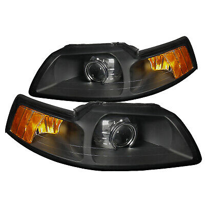 $135.99 • Buy New Retrofit Style For 99-04 Ford Mustang Projector Headlights Black Head Lamps