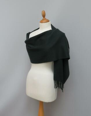 N Peal London 100% Woven Cashmere Deep Forest Green Scarf • 38.99£