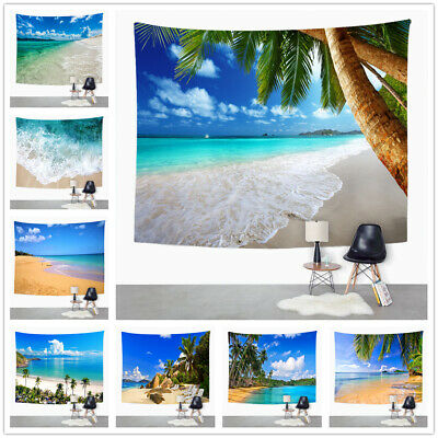 £16.99 • Buy 3D Nature Seascape Tapestry Beach Landscape Tablecloth Wall Hanging Home Deco