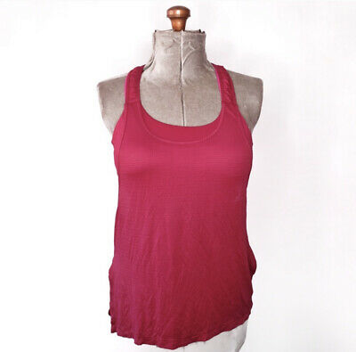 $ CDN19.40 • Buy Lululemon Red & Pink Tank Top With Built In Bra Size 10