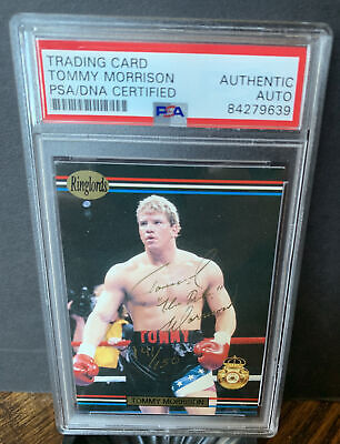 £109.07 • Buy 1991 Ringlords Tommy Morrison Signed Rookie Card Mint Auto 141 /150 RC PSA Coa