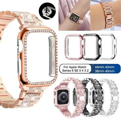 $ CDN17.61 • Buy Bling IWatch Strap Case For Apple Watch Band Series 6 5 4 3 2 1 SE 38 40 42 44mm