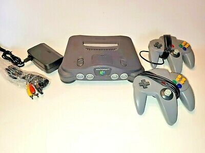 AU126.27 • Buy Nintendo 64 N64 Original System Console 2 CONTROLLERS Cords Adult Owner TESTED