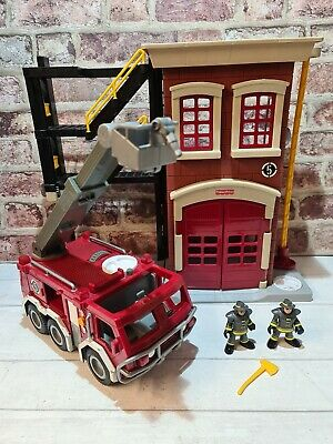 Fisher Price Imaginext Fire Station, Fire Engine & 2 X Firefighter Figures  • 16.99£
