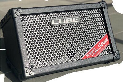 AU200 • Buy Roland CUBE Street Battery-Powered Stereo Amplifier, Used-1 Knob Missing, Black