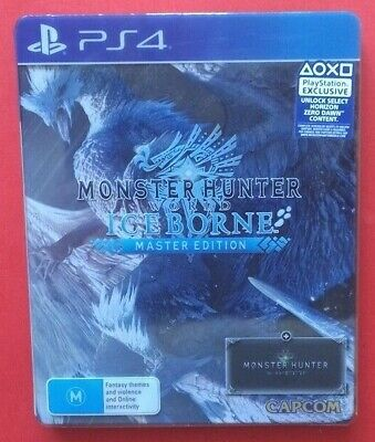AU74.95 • Buy Monster Hunter World Iceborne Steelbook & Game PS4 VeryGoodTRACKING+FREE POSTAGE