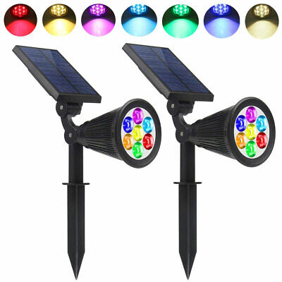 7 LED Waterproof  Solar Spot Light Color Changing Wall Outdoor Garden Yard Lamp  • 12.98£