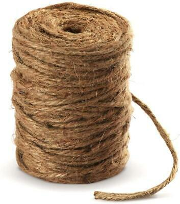 Absofine 100M Garden Cord Jute Twine String 4mm Thick Strong Natural Jute Rope • 9.56£
