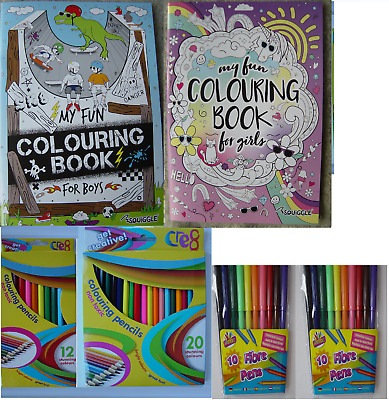 £1.70 • Buy Kids Colouring Books, Adult Quality, White Paper, 48 Pages, 2 Designs, A4