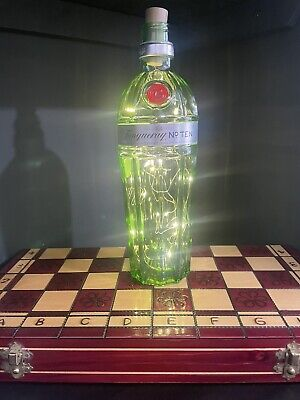 Tanqueray No. 10 Gin Battery Bottle Light Lamp LED Upcylced Retro Gift • 6£
