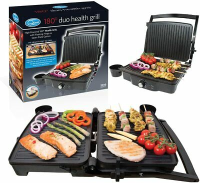 Quest Twin Duo 180° Panini Press And Flat Grill, Stainless Steel, 2000W • 36.95£
