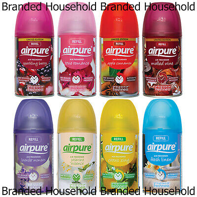 £8.99 • Buy 6 X Airpure Automatic Spray Refills Air Freshener Fragrance 250ml Choose Scent