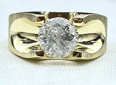 AU4908.29 • Buy 2.36 Ct  DIAMOND Mens Solitaire Pinky Ring SOLID 14k Yellow Gold (SEE VIDEO)