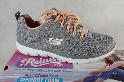 Skechers Ladies Slippers Sneakers Low Shoes Trainers Grey New • 74.93£