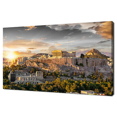 £36.99 • Buy The Acropolis Athens Greece Skyline Ancient Canvas Wall Art Print Picture