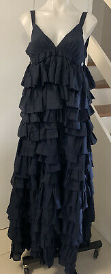 AU180 • Buy Scanlan And Theodore Size 8 Navy Silk Gown 🌟🌟🌟