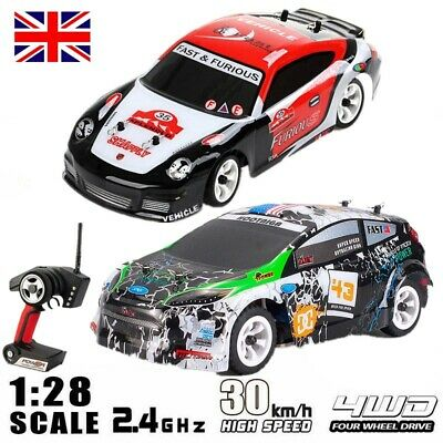 £42.99 • Buy Wltoys RC Car 1/28 2.4G 4WD Brushed Remote Control RTR Rally Car Drift Car UK