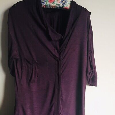 All Saints Quirky Shirt Dress Button Up With Silk Tie Size S Steampunk Boho Goth • 15£
