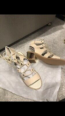 Cream And Gold Gladiator Sandals Size 4 • 4.99£