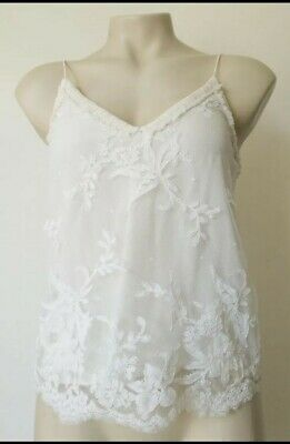 AU59 • Buy Scanlan Theodore Lace Top Trimmed With Silk( Viscose +polyester)