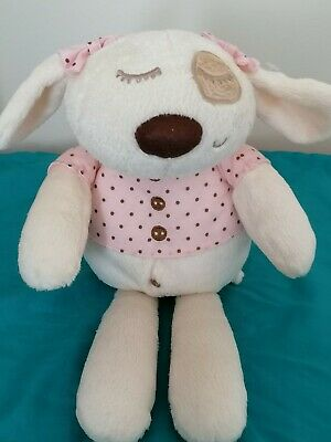 Mamas And & Papas Dreamy Sleepyheads Pink Soft Cuddly Toy Puppy Dog Bunny 12  • 10£