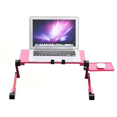 Adjustable Folding Laptop Table Lap Cooling Stand Tray Study Desk Bed 420*260mm • 15.99£