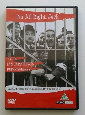 I'm All Right Jack (DVD, 2004) Starring Ian Carmichael And Peter Sellers • 1£