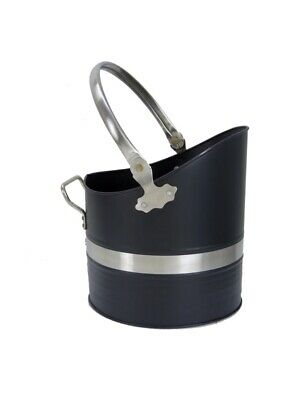 Manor Black Pewter Fuel Coal Scuttle Bucket Hod Warwick 1396 • 34.99£