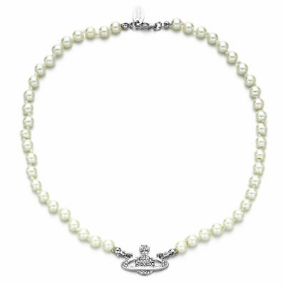 Rhinestone Faux Pearl Sparkling Saturn Pendant String Clavicle Chain Necklace • 0.99£