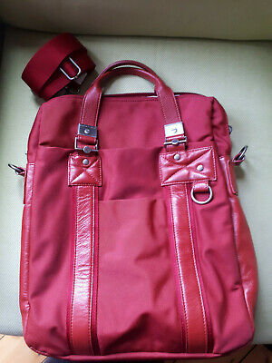 Mandarina Duck Red Bag- Handbag Or Briefcase Size. Will Hold Laptop • 40£