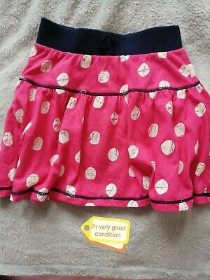 Girls Pink And White Polka Dot Skirt 2-3 Years Old • 1.49£