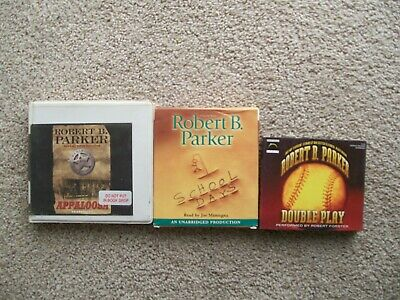 3  Robert B. Parker Unabridged Cd Audio Books .double Play,school Days,appaloosa • 9.40£
