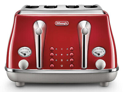 AU161.15 • Buy DeLonghi Icona Capitals 4 Slice Toaster - Tokyo Red - CTOC4003R