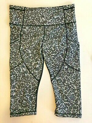 $ CDN49.36 • Buy Lululemon Speed Running Nulux Leggings Florence Lace Sz 10 Beautiful Black/White